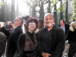 Michelle Pincus & David Brin at Bradbury Square dedication